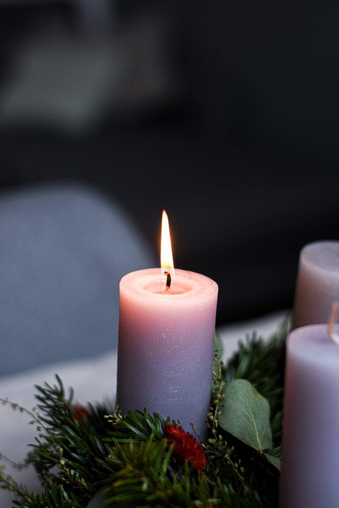Kerze Adventszeit