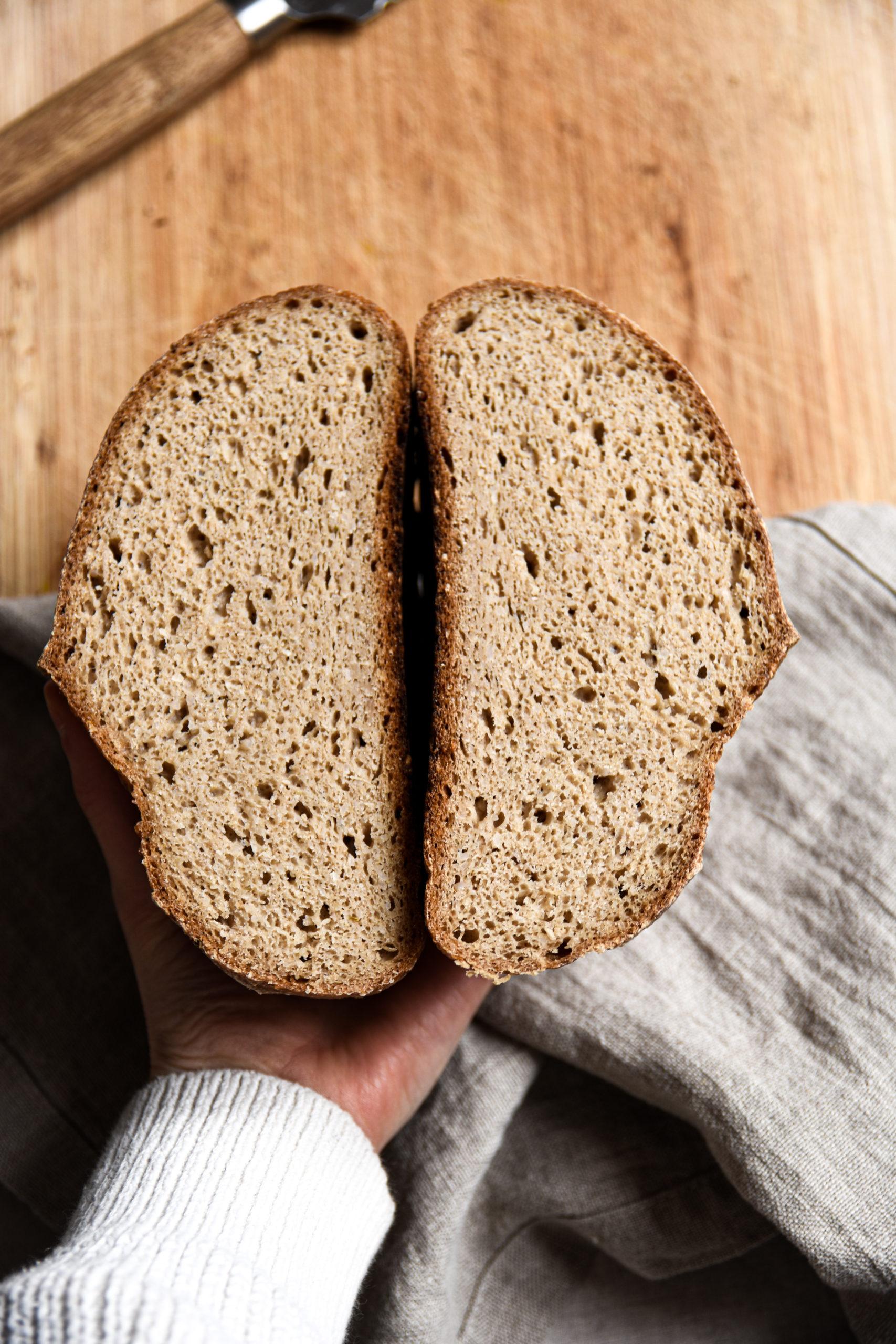 Brot von Innen nach dem Rezept für glutenfreies Sauerteigbrot